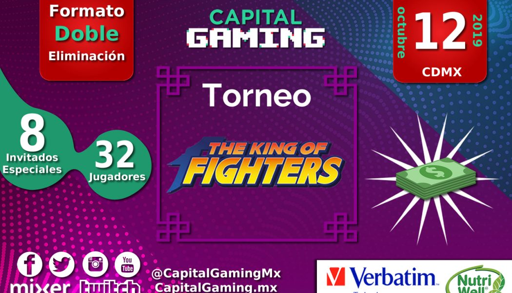 ¡Torneo de #TheKingOfFighters en Capital Gaming!