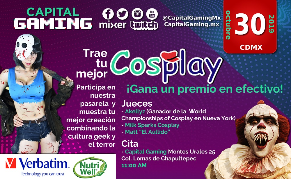 pasarela cosplay capital gaming